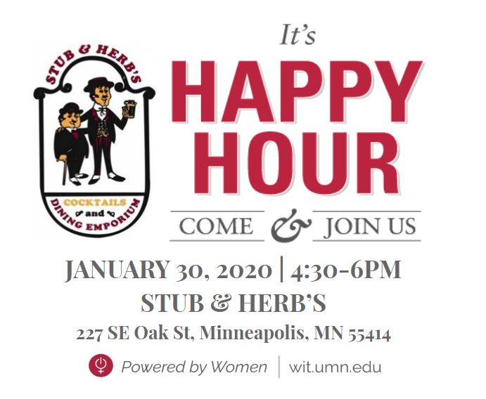 happy hour at stub and herb's jan 30 2020