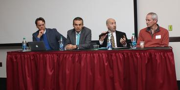 four male allies on a panel